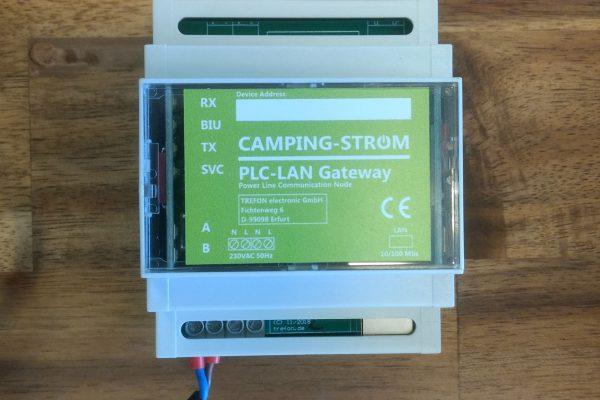 Camping-Strom PLC-LAN-Gateway für den Zugriff auf ein PowerLine-Netzwerk
